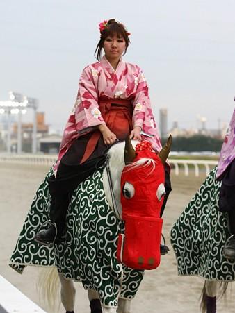 川崎競馬の誘導馬01月開催 獅子舞 和服Ver-120101-11