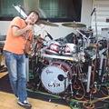 写真: ガンちゃんと 新しいドラム...