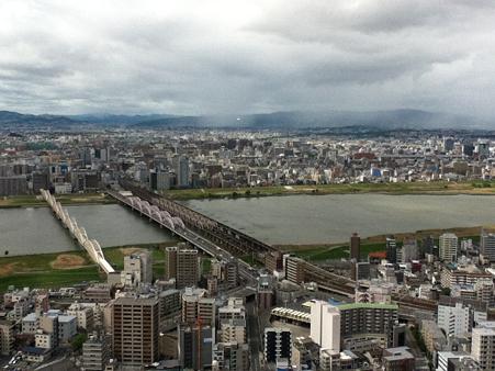 20120504梅田スカイビル 空中庭園展望台より 北側