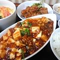 写真: 麻婆豆腐&二色揚げ定食