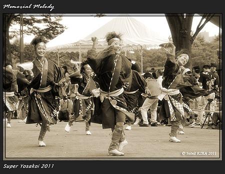 ダンスパフォーマンス集団 迫-HAKU-_17 - 原宿表参道元氣祭 スーパーよさこい 2011