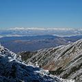箕冠(ミカブリ)山からの北アルプス望遠