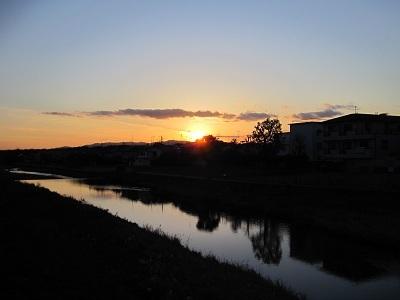 大晦日の夕日