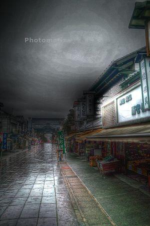 雨の善光寺界隈・4HDR