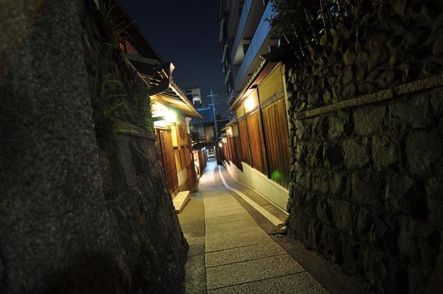 京都-夜京 石塀小路 人外