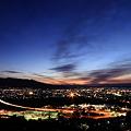 富士市の夜明け