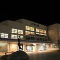 深夜の直江津駅 駅舎