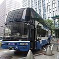 東京駅に到着した高速バス「スサノオ」