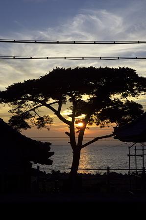 今川駅、夕陽のある列車待ち