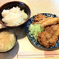 写真: ルイタ食堂 日替わり(ミックスフライ)