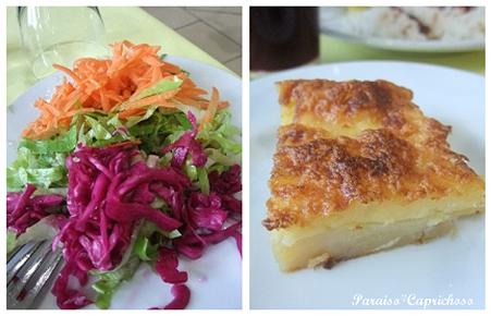 サラダとポテトミルフィーユ