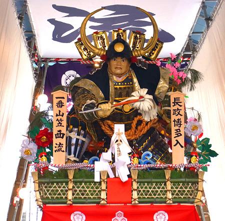 博多祇園山笠 2011 舁き山 西流 長政博多入(ながまさはかたいり)1