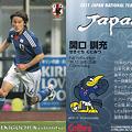 写真: 日本代表チップス2011No.028関口訓充(ベガルタ仙台)
