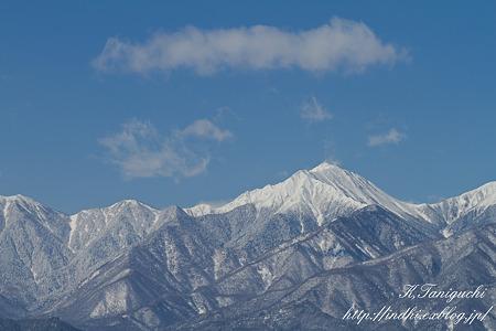 安曇野から見た常念岳 EOS7D EF85 F1.8USM