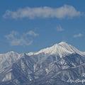 写真: 安曇野から見た常念岳 EOS7D EF85 F1.8USM