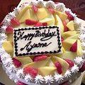 写真: 1人寂しく誕生日ケーキ食べ...