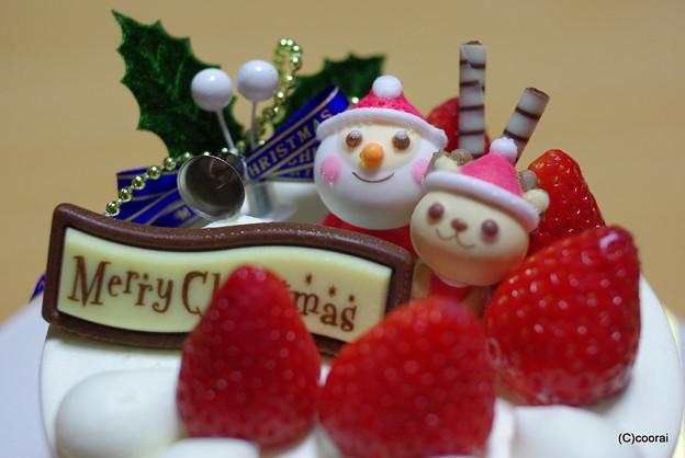 写真: クリスマスケーキ