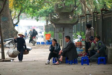 2012.03.12 ハノイ 旧市街 路上喫茶