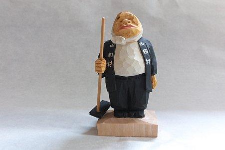 2011.08.03 机 木彫り小舎オリジナル木彫人形 農夫