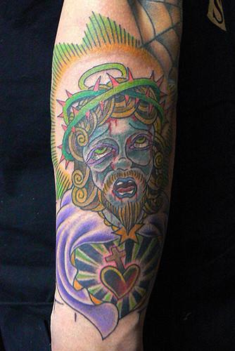 キリスト ハート イバラ 腕/tattoo.タトゥー.刺青
