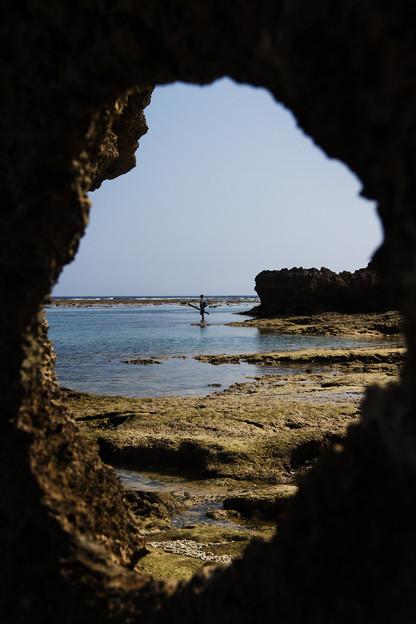 写真: 釣り師