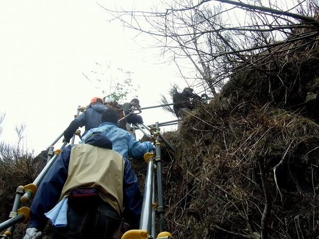 足尾植林 600段コースはこんな急斜面だ!