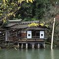 写真: 内橋亭と紅葉  兼六園 霞ヶ池