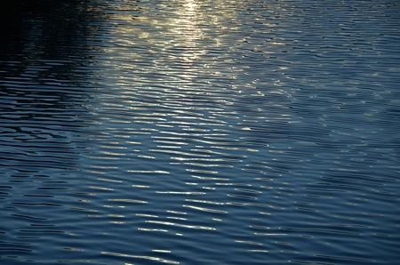 夕を迎える水面