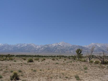 マンザナール収容所跡からの景色