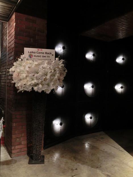 2011.12.15 Laika Came Back!ジョージ・ウィリアムズさんからのお祝い花